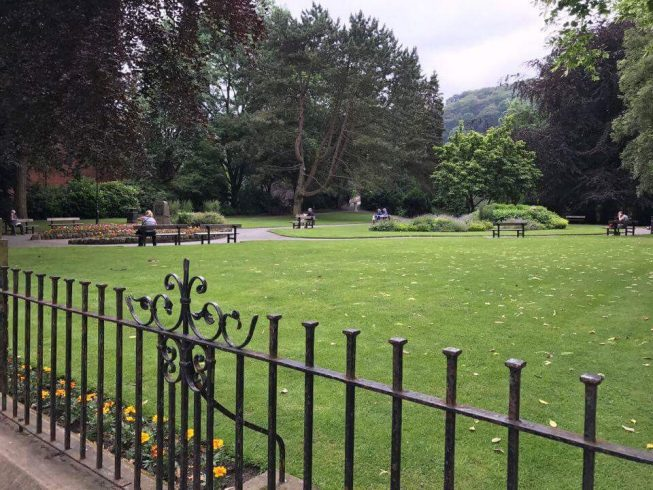 After brunch I drove down in my electric wheelchair to Calder Holmes Park. Wow, I loved it huge and amazing accessible park I know. The children who were there were loving it! I went on roundabout and I felt dizzy but good job I was not sick ha ha ha! It brought back many memories of being with my brothers and sisters at Manor Heath Park when we were part of the 1Park for All project making parks inclusive in Calderdale.