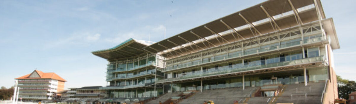 York racecourse welcomes us in.