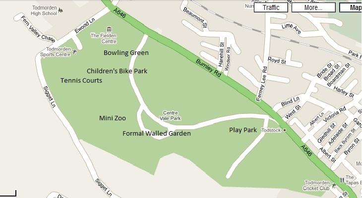 Centre Vale Park map
