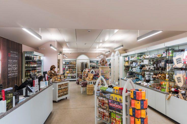 Rievaulx Abbey Shop area view