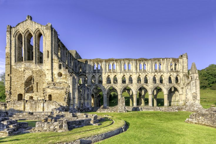 Rievaulx Abbey View from the side