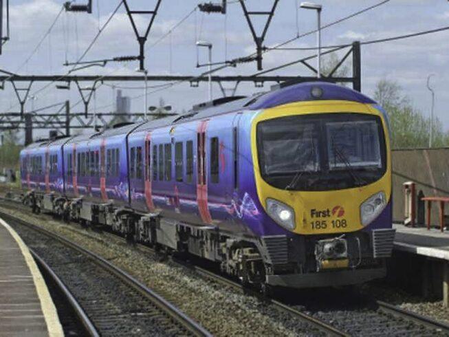 A train comes into the station at Elland